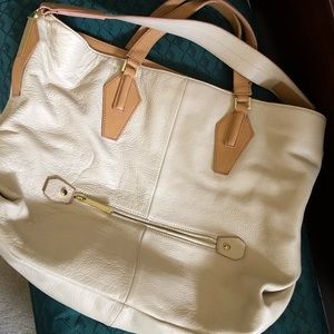Halston Leather Shoulder Bag